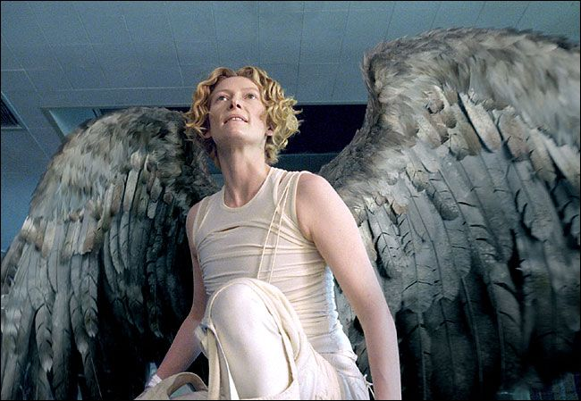 Tilda Swinton - adore this woman and her style. Wouldn't be surprised at all if she had input in the design of her costume for her character, Gabriel!