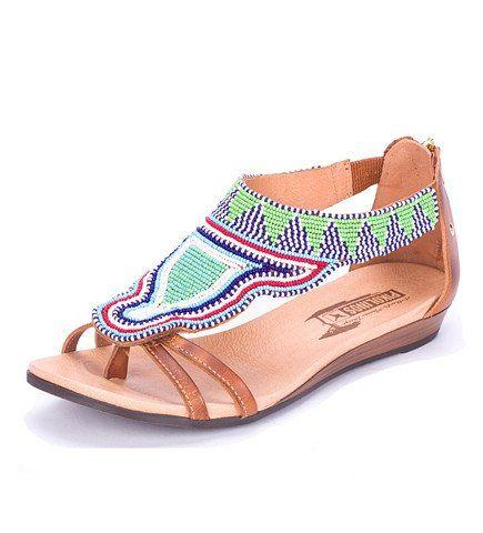 Cacao Beaded Masai Sandal