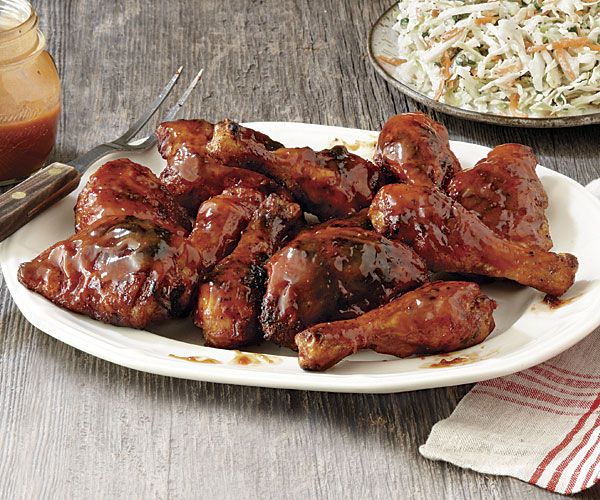 Barbecued Chicken Legs from Fine Cooking Magazine. This recipe calls for chicken legs & thighs. It has a simple homemade sauce that my family loved! The chicken was fantastic and tender. This will be my go to BBQ chicken recipe from now on.