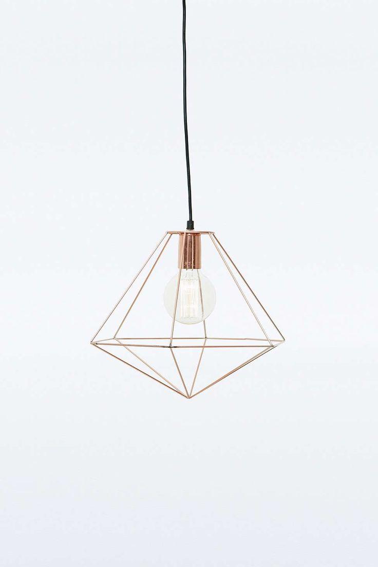 Copper Geometric Pendant Light. Urbanoutfitters.com