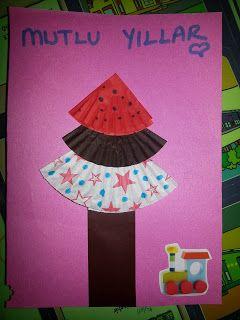 İYİLİK VE SAĞLIK: Muffin kağıdıyla yeni yıl kartı