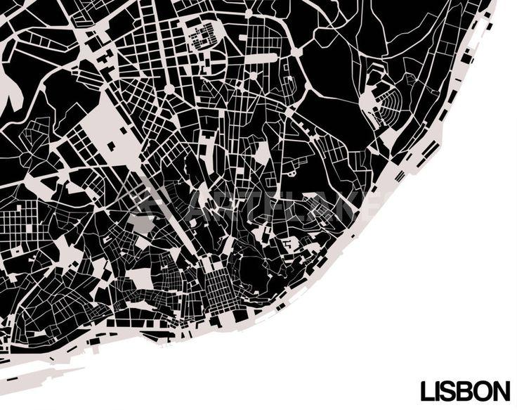 """""""Lisbon [1]"""" Grafik/Illustration von Gytaute Akstinaite jetzt als Poster, Kunstdruck oder Grußkarte kaufen.."""