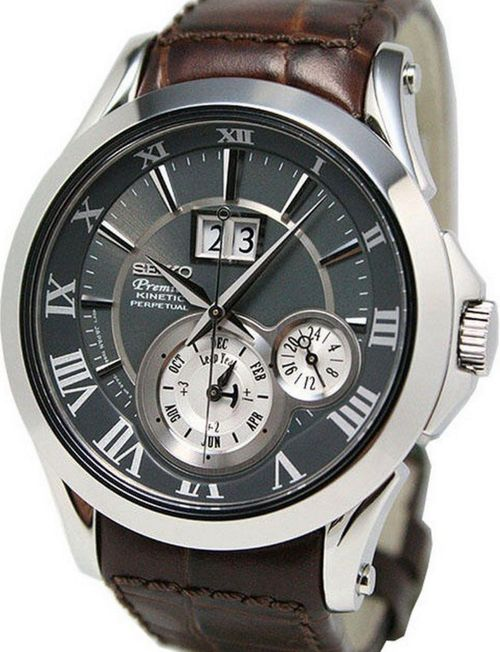 Seiko Premier Kinetic Perpetual Men's Watch SNP025P1 - In Stock, Free Next Day Delivery, Our Price: £429.99, Buy Online Now
