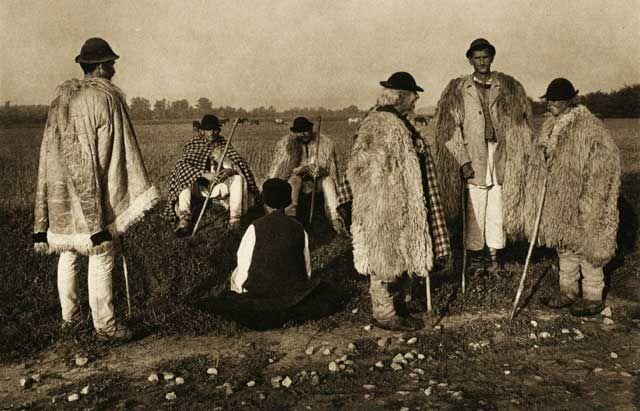 shepherds of Novaci, Gorj County, Oltenia