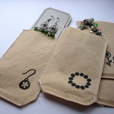 By MiekK: DIY - CadeauZakjes van KoffieFilters