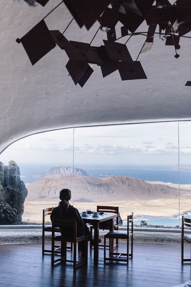 At Mirador Del Río, a Manrique-designed cafe at the end of a winding road up Lanzarote's northern bow, the views offer an even greater jolt than the espresso.