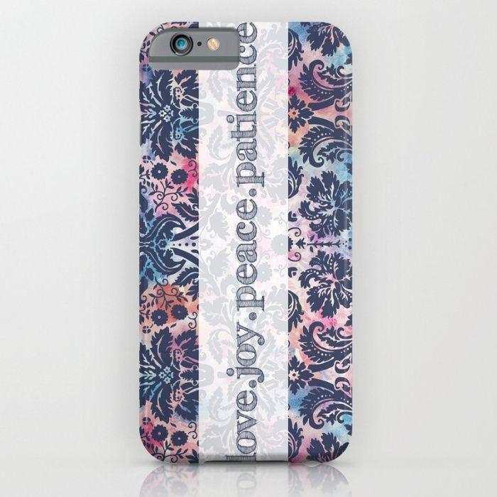 Love.Joy.Peace.Patience iPhone & iPod Case by The Willow Wood Studio   Society6