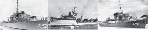ERA DE TRUJILLO Viaje de 3 barcos de guerra de la Marina de Guerra dominicana a España en 1954  como contraparte del primer viaje de Colón a la isla Española en el descubrimiento de 1492.