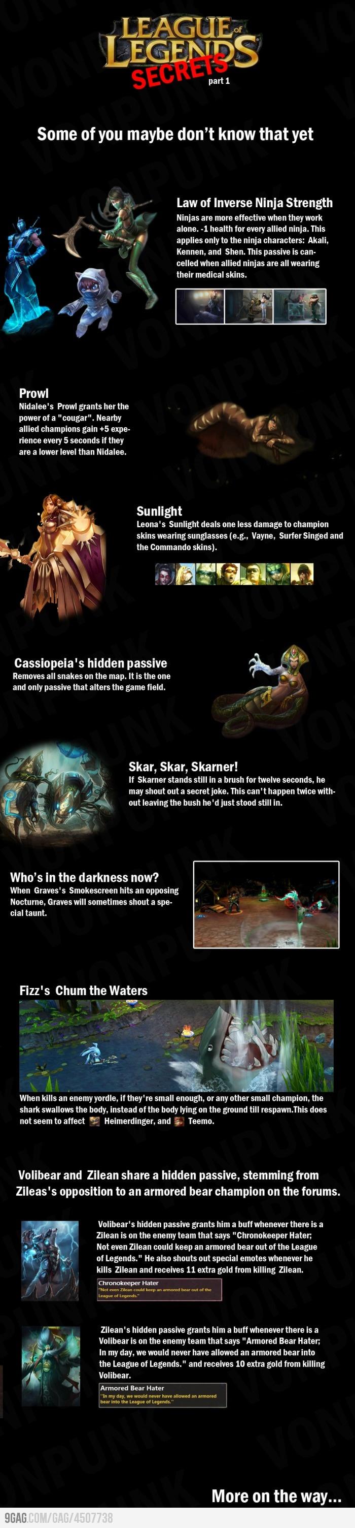 League Of Legends lvl: hidden passives