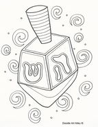 Hannukkah Coloring Pages