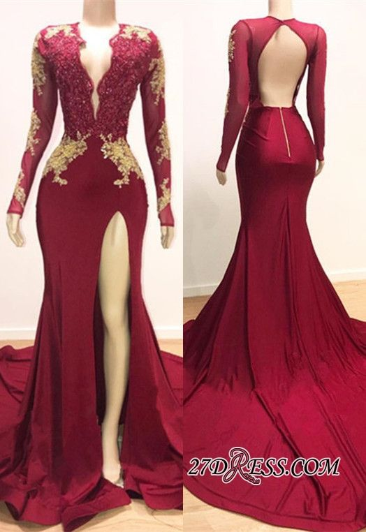 Gorgeous Long Sleeve Mermaid Prom Dresses  3bd0bf672f1f