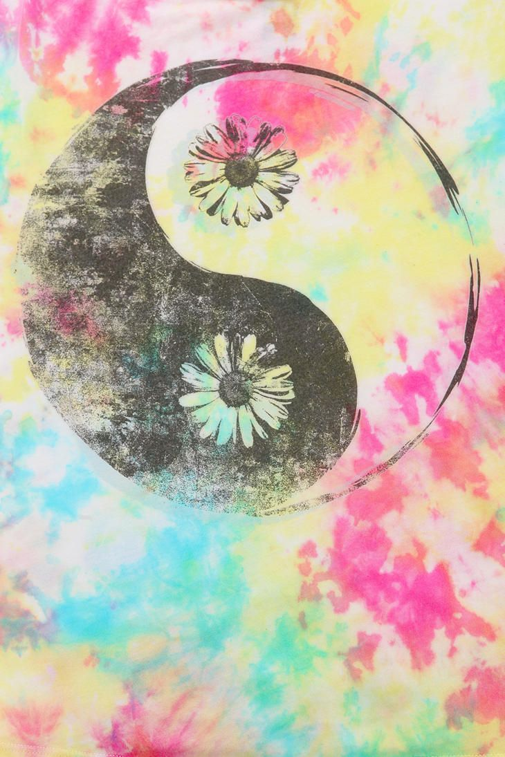 Tumblr tie dye iphone wallpaper - Hometown Heroes Yin Yang Tie Dye Tee