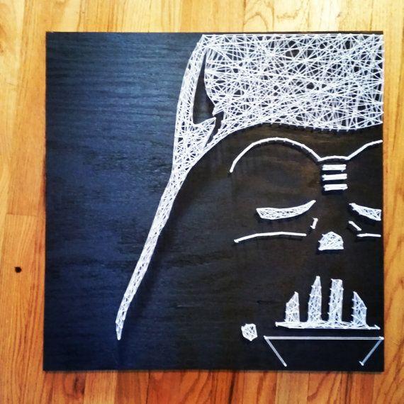 Darth Vader Star Wars cadena arte por DisorderAndDisarray en Etsy