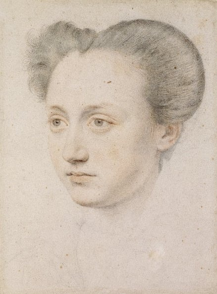 """Marie Touchet was the only mistress of Charles IX of France. Although born to a bourgeois Huguenot family she held her row at court as well as any of the first class ladies. Her anagrammed name was even Je Charme Tout (the letters I and J were then considered interchangeable) meaning """"I charm all."""" Henry IV was responsible for this clever wordplay.After Charles IX died she married Charles Balzac d'Entragues, and had a daughter Henriette that later became the mistress of Henry IV."""