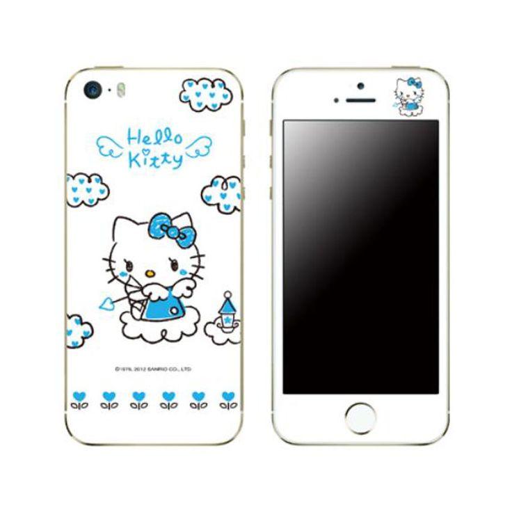 Hello kitty skin decal stickers iphone 6 plus universal phone blue angel cupid popskinkorea