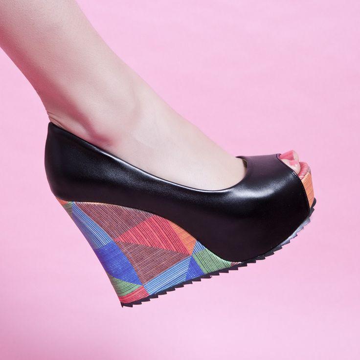 Nouveaux Summer 2015 Mode féminine Sandales Marque Rome mode casual plateformes Ultra Talons Ouvrir Toe Chaussures Femmes Pompes-Sandales de chaussures sur Aliexpress.com | Groupe Alibaba