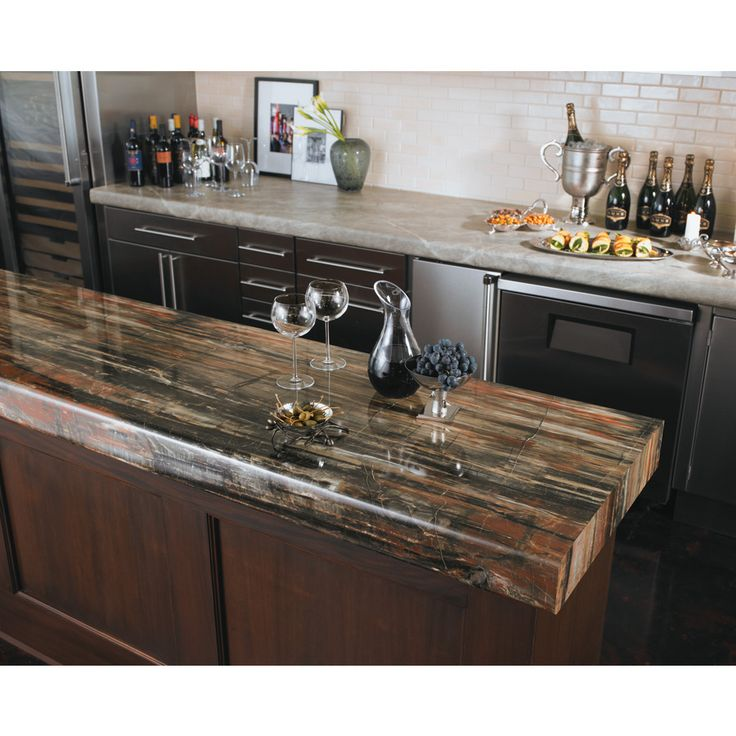 Formica Brand Laminate 48 In X 96 In Petrified Wood 180fx Gloss Laminate Kitchen Countertop