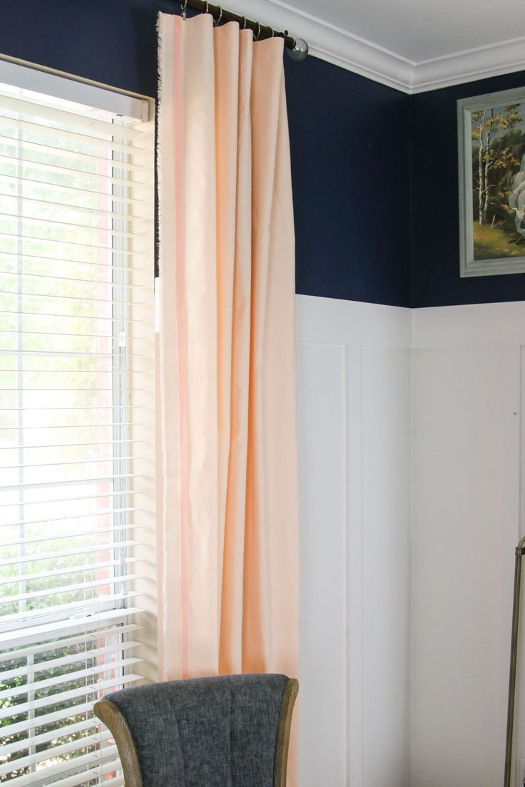 Peach curtains drapes -  One Room Challenge Peach Curtains Windgate Lane