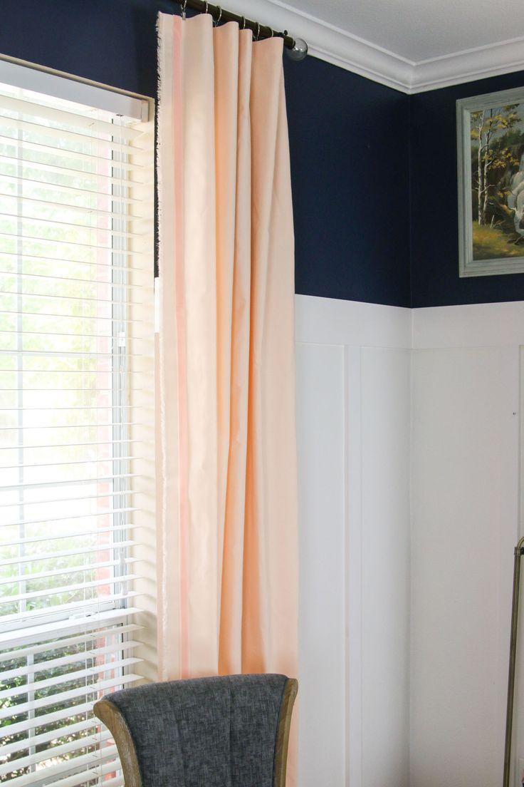 Light peach curtains -