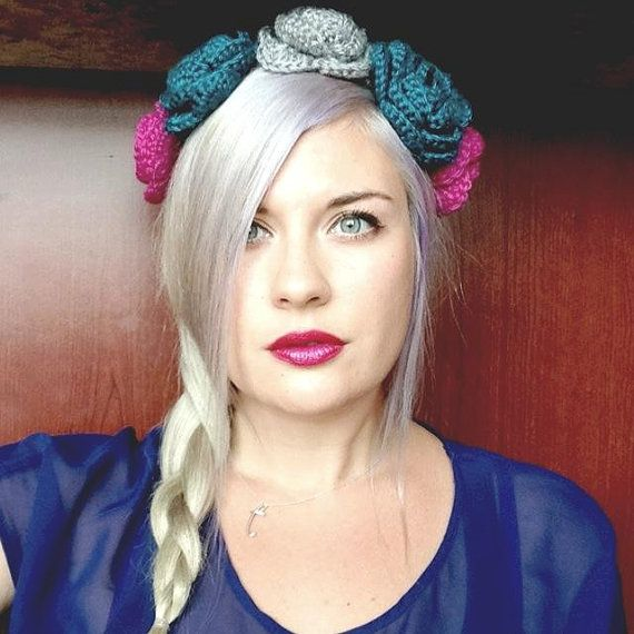 Crochet Flower Crown Headband #etsy #doughandadeardesigns ...