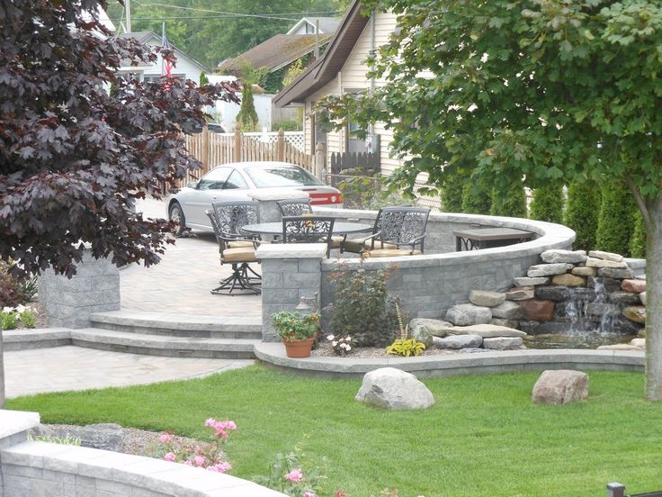 Amaze Your Guests With Stunning Landscaping And Water Features Around Your  Cambridge Patio.