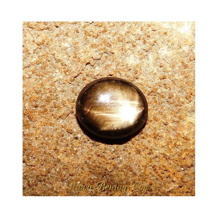 Promo Batu Mulia Black Star Sapphire 6 Ray Oval Cabochon 4.00 Carat