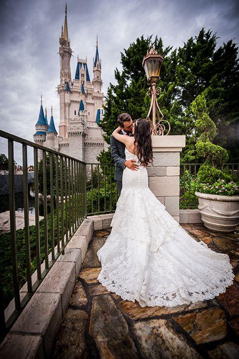 Wedding dress train perfection at Walt Disney World. Photo: Daniel, Disney Fine Art Photography