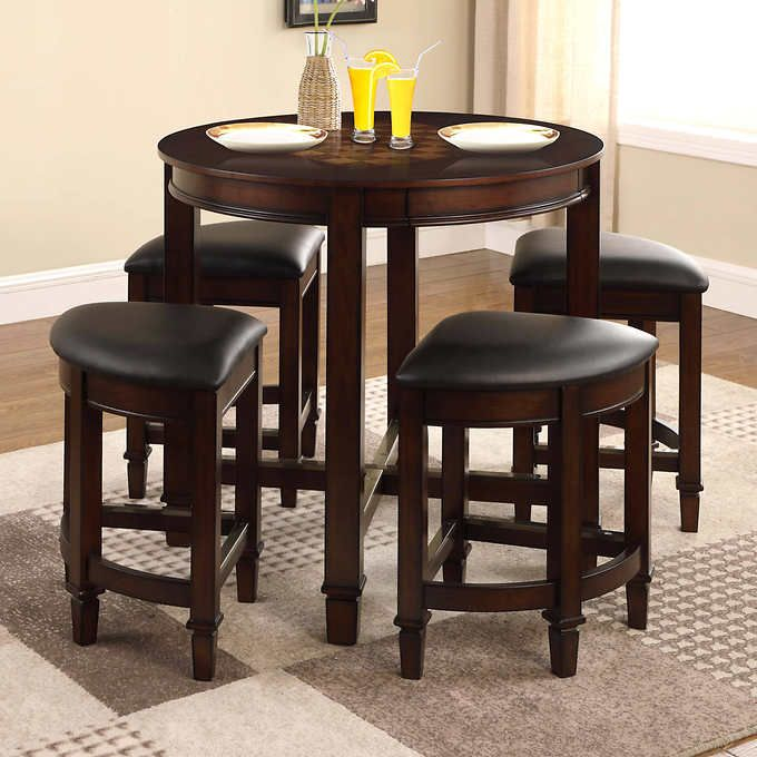 Well Universal 5 Piece Game Top Dining Set Dining Table In