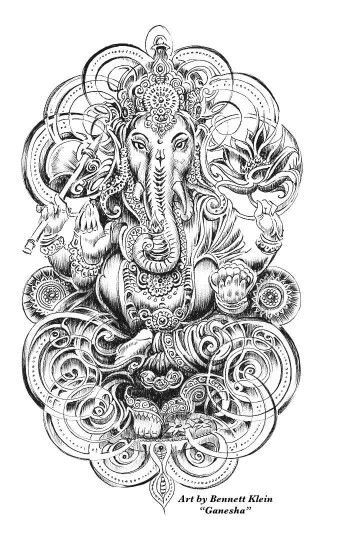 Complicated Elephant Coloring Pages.  Ganesha Mendhi Elephant Coloring Page Free Printable Complex Designs from Artist Bennett 51 best Comparative World Religions images on Pinterest