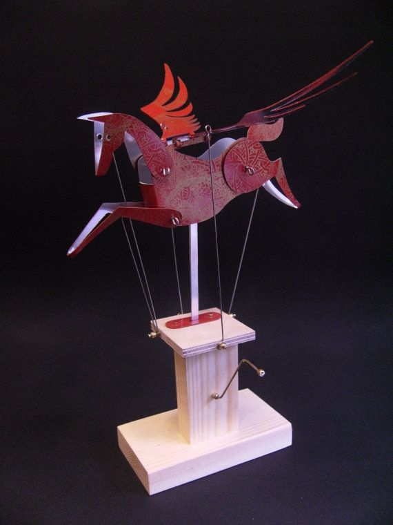 sculpturePegasus Automata, Folksy Collection, Newstead Automata, Art Crafts, Red, Animal Art, Gold 45 00, Kinetic Sculpture, Collection Someday