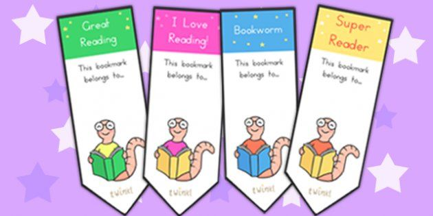 Editable bookworm bookmarks editable bookmarks reading for Bookworm bookmark template