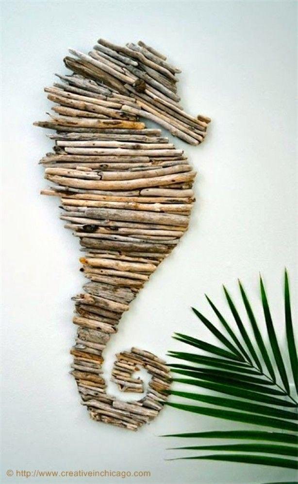 Vergeet niet mooie schelpen of stukjes hout die je in de vakantie tijdens lange strandwandelingen vindt mee naar huis te nemen. Je kunt er leuke dingen mee doen!