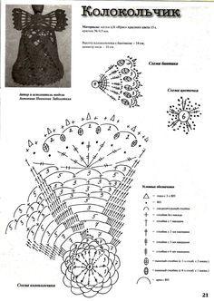 Znalezione obrazy dla zapytania horgolt harang minta leírással