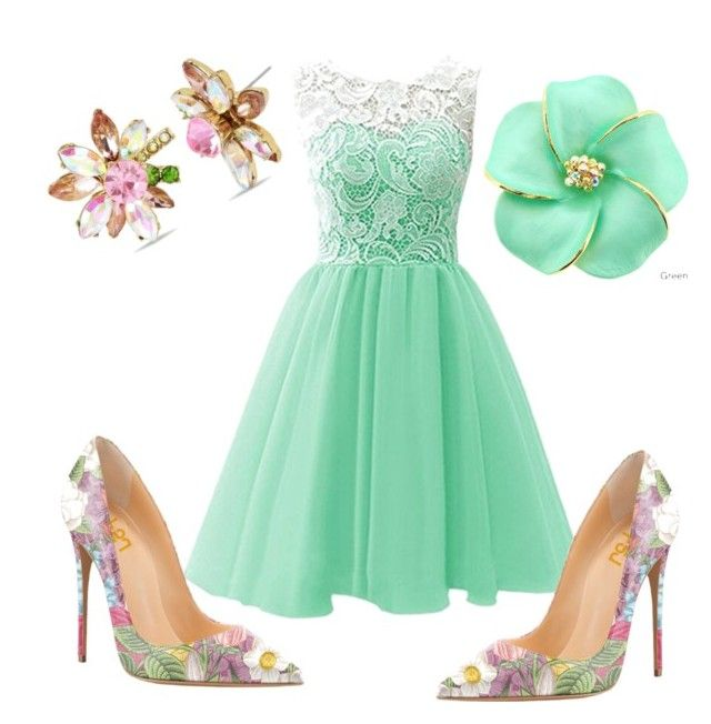 """#pinkgreen"" by sanikova on Polyvore featuring Betsey Johnson"
