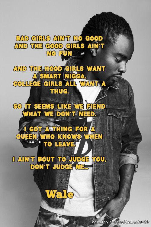 wale bad lyrics - photo #29