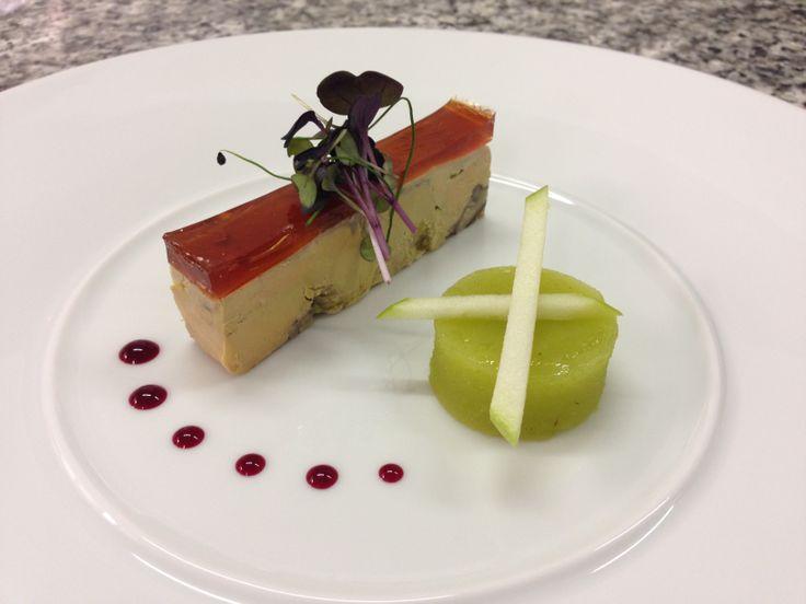 Foie gras d'oie et pomme verte. #gastronomie #food #me