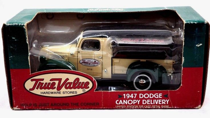 ERTL 1947 True Value Hardware Dodge Canopy Delivery Truck  Die Cast Bank    (C4) #ErtlCollectables