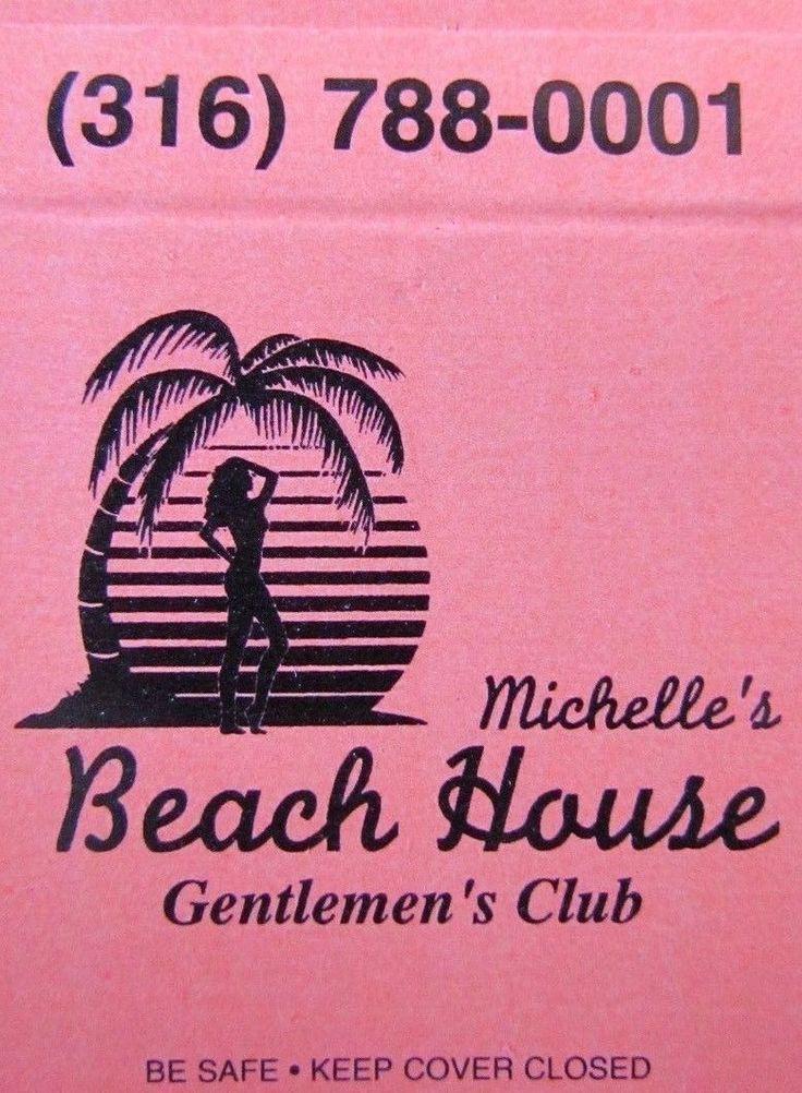 Nena: Michelle's Beach House Caballeros tira Club (Derby, Kansas) - Chica-N29   eBay