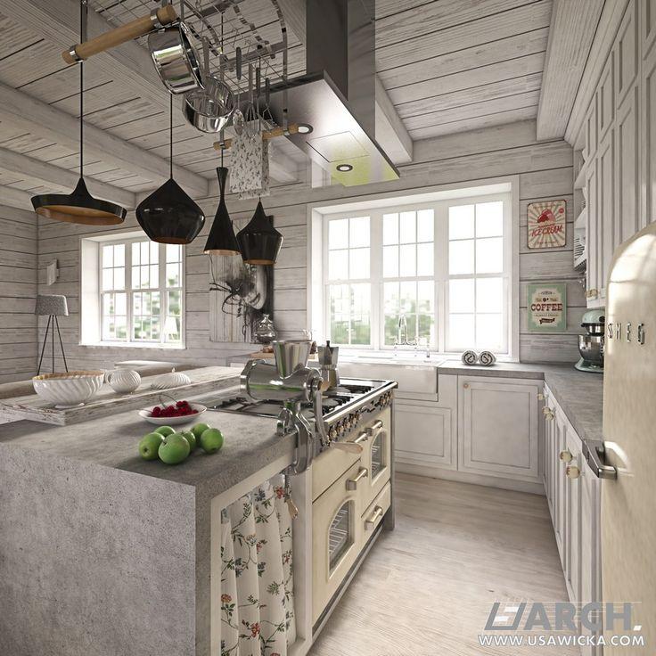 Farmhouse. Kitchen.  www.usawicka.com