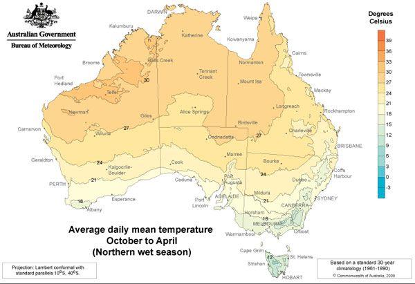 temperature-australie-saison-humide