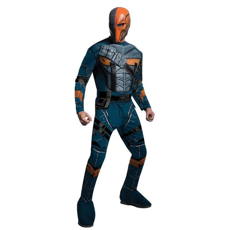 Batman: Arkham Origins Deluxe Deathstroke Costume - Adult, Size: Medium, Blue