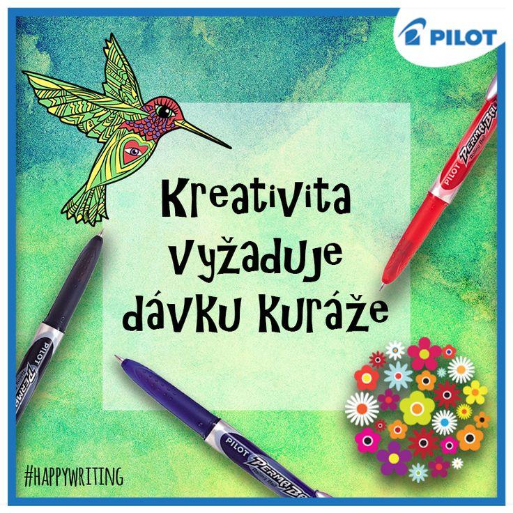 Neboj se vlastních nápadů! Kreativita je úžasný dar :) Každý nápad hravě zrealizujete například pomocí per #Pilot #Permaball, která píší na téměř všechny povrchy a je možné s nimi dekorovat třeba skleničky (y) #happywriting #pilotpencz