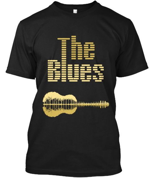 The Blues  Black T-Shirt Front