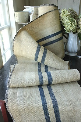 Grain sack stair runner