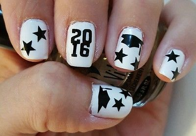 2018 Updated Graduation Cap Vinyl Nail Art Decal Stickers 3 Get 1 Free In Nails Pinterest And