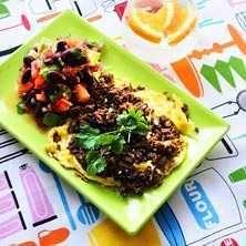 Tacoomelett med tomat- och bönsalsa - Recept - Tasteline.com