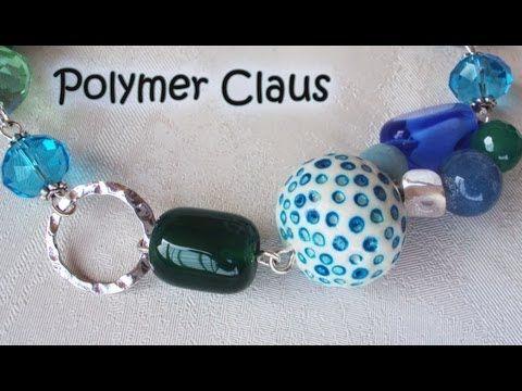 Bracciale bangle con millefiori cane: in collaborazione con Archidee (polymer clay tutorial) - YouTube