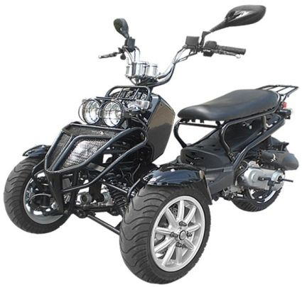 150cc Three Wheel Ruckus Style Trike Scooter Moped On