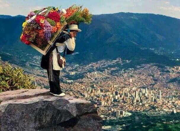 Silletero de Medellin. Feria de flores