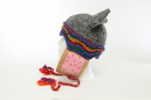 This hat wins the Internet.Cat Hats, Hatschapeau Sha, Geeky Crafts, Knits Pattern, Geeky Knits, Nyan Cat, Knits Hats, Hats Pattern, Geeky Stuff